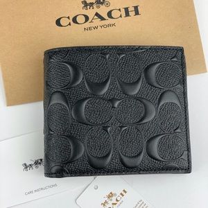 Coach 3-in-1 Men's Wallet In Signature Leather